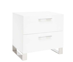 Corsica Modern Side Table in White Lacquer