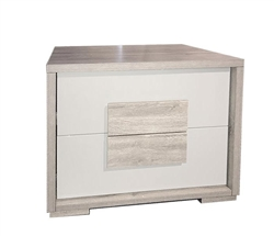 Lia grey wood and lacquer Italian Modern Side Table