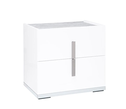 Mara Modern Italian Side Table White