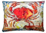 "Red Crab Modern Outdoor Modern Pillow - 19"" x 24"""