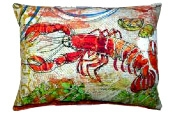 "Red Lobster Modern* Outdoor Modern* Pillow - 19"" x 24"""