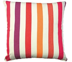 "Purple-Orange Stripped Modern* Outdoor Modern* Pillow - 24"" x 24"" *Special order"