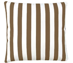 "Brown-Cream Stripped Modern Outdoor Modern Pillow - 24"" x 24"" *Special Order"
