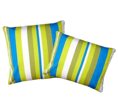 Purple-Orange Stripped Outdoor Pillows