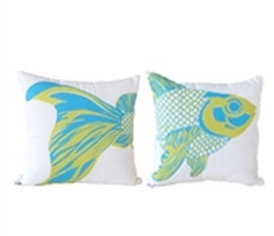 "Fish Modern* Outdoor Modern* Pillow Head- 18"" x 18"" - Backordered"