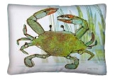 "Green Crab Modern Outdoor Modern Pillow- 18"" x 18"" *Special Order"