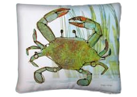 Green Sea Crustaceans Outdoor Pillows