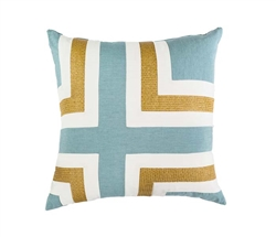 Modern Regens Cross Celadon Pillow