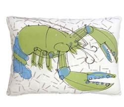 "Green and Blue Lobster Modern Pillow 19"" x 24"""