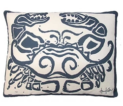"Navy Crab Modern Pillow 19"" x 24"""