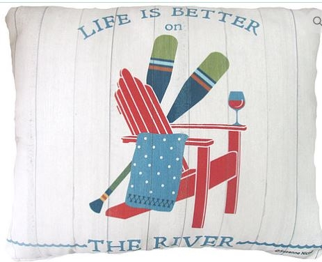 "River Modern Pillow 18"" x 18"""