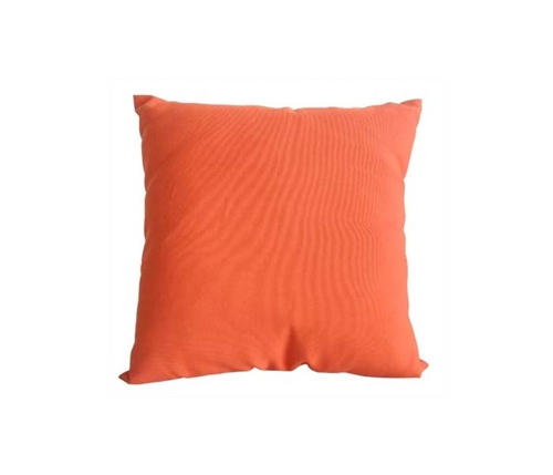 "Orange Square Outdoor Pillow 18"" x 18"""
