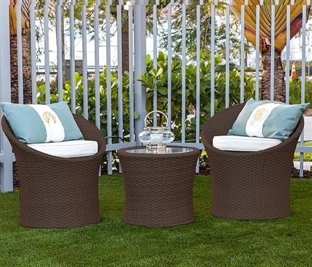 Imola Modern Outdoor Bistro Set in Espresso
