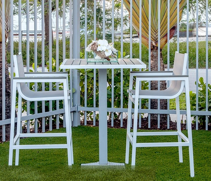 Anacapri Modern Bar Table and Chairs & Outlet Outdoor Bar Furniture - Anacapri Bar Table and Chairs - mh2g