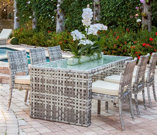Saverlli Modern Outdoor Patio Dining Table Set - Seats six