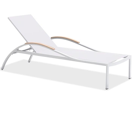 Amanda Modern White Sun Lounger available at Modern Home 2 Go