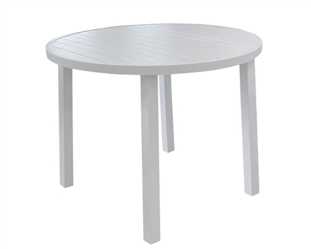 Clint Modern Patio Round Dining Table White Fabric available at Modern Home 2 Go