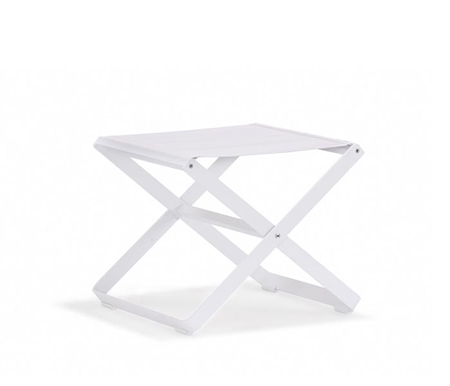 Clint Modern Patio Dining Stool in White Fabric available at Modern Home 2 Go