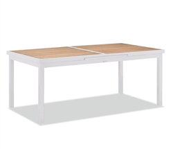 KD Modern Patio Expandable Dining Table White available at Modern Home 2 Go