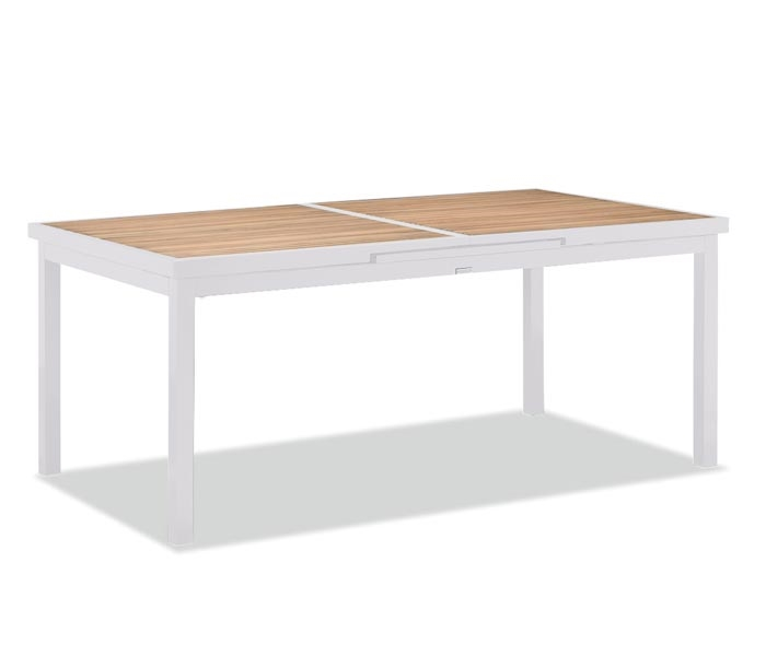 mh2g outdoor dining cori modern patio dining table white