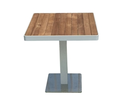 Cori Modern Teak Patio Bar Dining Table at MH2G
