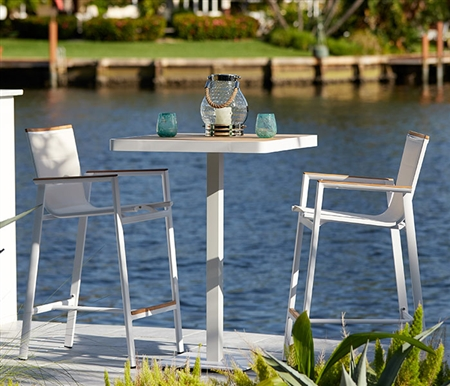 Modern Teak Patio Bar Collection at MH2G