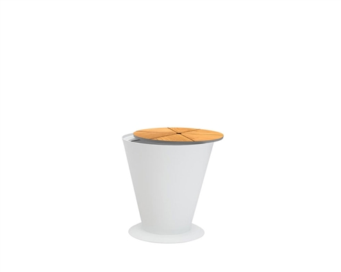 Cori Modern White Ice Bucket