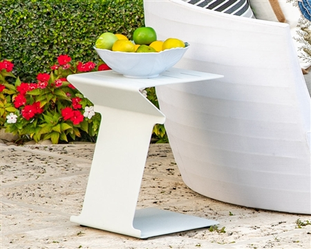 Cori Modern White Side Table