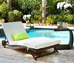 Beautiful contemporary outdoor bed for relaxing outside in style.