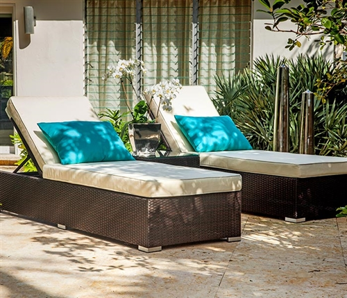 Stasi Double Lounger Set in espresso available at Modern Home 2 Go