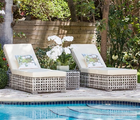 Savelli Double Recliner Modern Outdoor Chaise Set Outlet