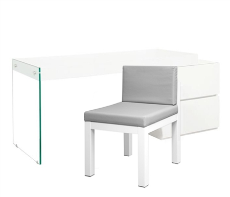 Corsica Desk with glass legs - <strong>DRL</strong> FLOOR SAMPLE - FINAL SALE