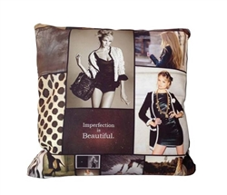 Chic pillows in Magazine Print Fabric