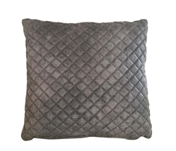 Savona quilted grey Modern Pillow