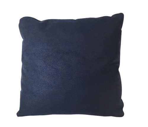 "Suede Blue Modern Pillow 18"" x 18"""