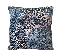 "Pantera Blue Modern Pillow 20"" x 20"""