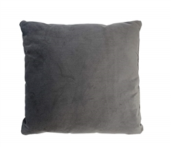 "Velvet Grey Modern Pillow 20"" x 20"""