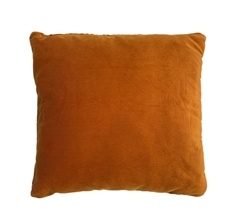 "Velvet Light Orange Modern Pillow 20"" x 20"""