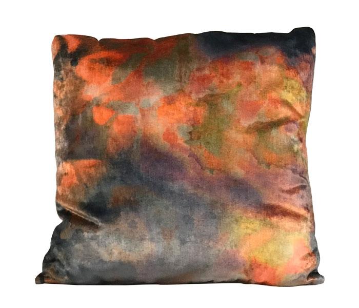 Pillows - Funky Gray Orange Modern Pillow 50