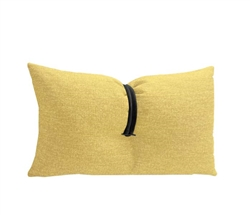 Yellow Fabric Modern Pillow