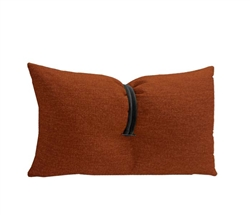 Orange Fabric Modern Pillow