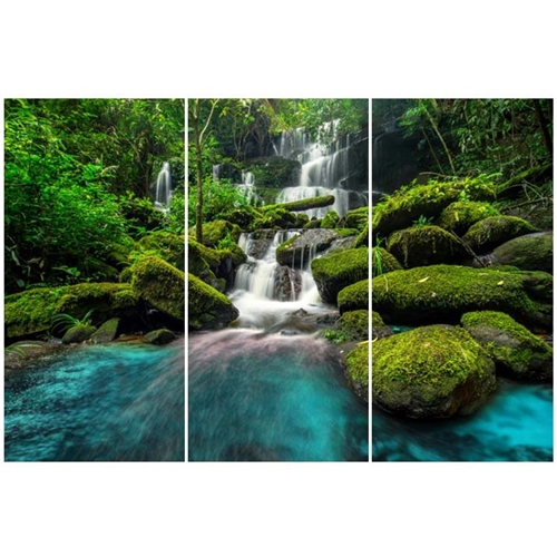 new Forest Falls Modern Plexi Art  Set of three