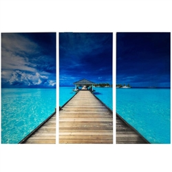 Dock Modern Plexi Art  Set of Three