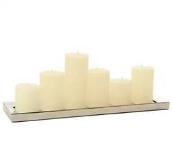 Reflections Rectangular Modern Candle Holder