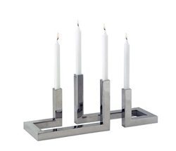 Interlock Modern Candle Holder - Four *Special Order