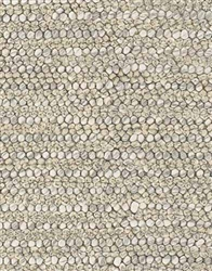 Kulti Hand Woven Contemporary Rug 5' x 7' 6'' Light Grey  *Special Order