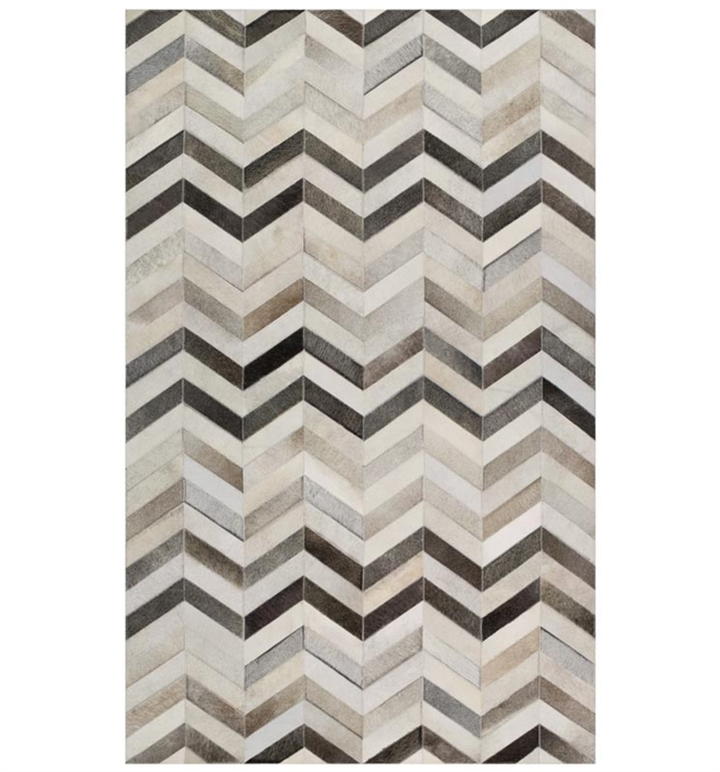 Trail Modern Cowhide Rug Chevron Collection