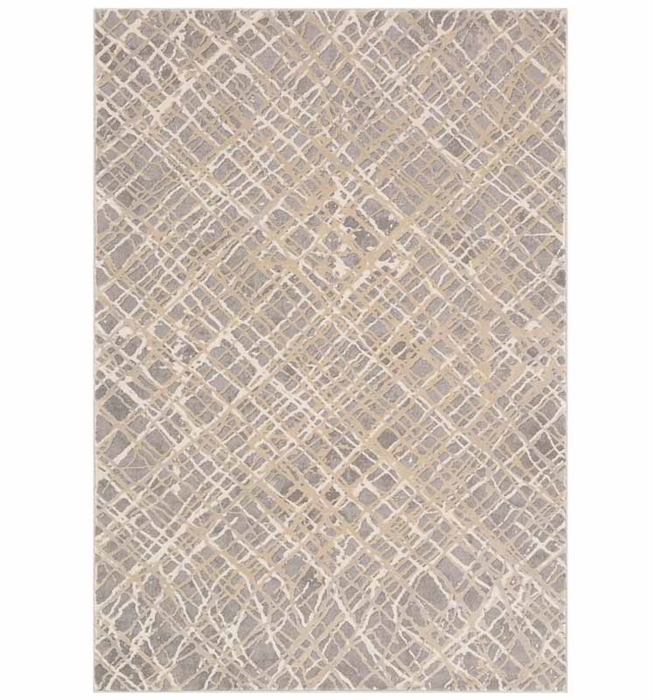 "Tibetan Modern Rug 7'10"" x 10'3"" Charcoal, Taupe, Khaki and Medium Gray"