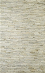 La Romana Brazilian Leather Rug 5' x 8' - Natural Products Will Have Color Variations*