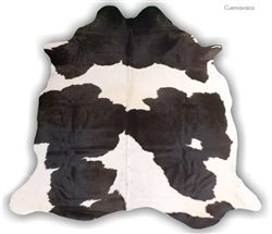 Cuernavaca Natural hide Modern Rug  Black & White - Large - Natural Products Will Have Color and size Variations *Special Order
